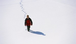 Hiking Through Snow