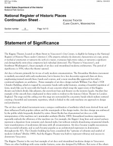 Read the Statement of Significance