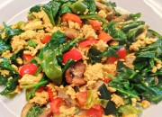 Sprouted tofu scramble 470