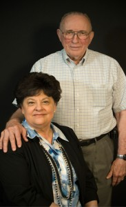 Pat with her husband Finis Johnson