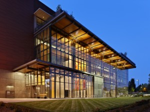 Fort Vancouver Community Library at Dusk